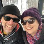 Going up the gondola