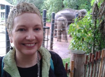 Playing in the Rain at Melbourne Zoo – a must see on your visit