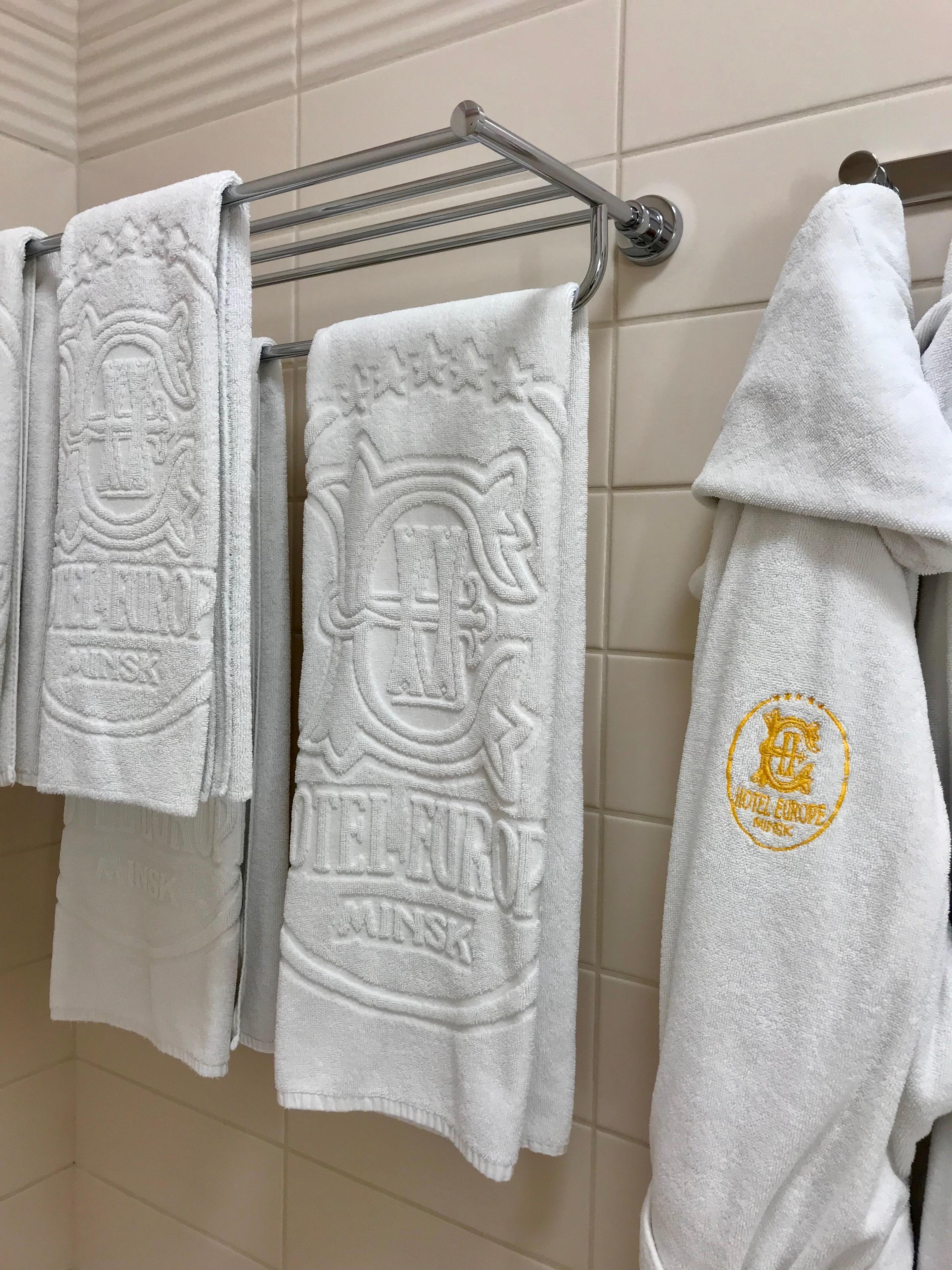 Hotel Europe towels in Minsk