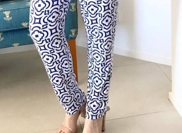 Wyse geometrical patterns pants