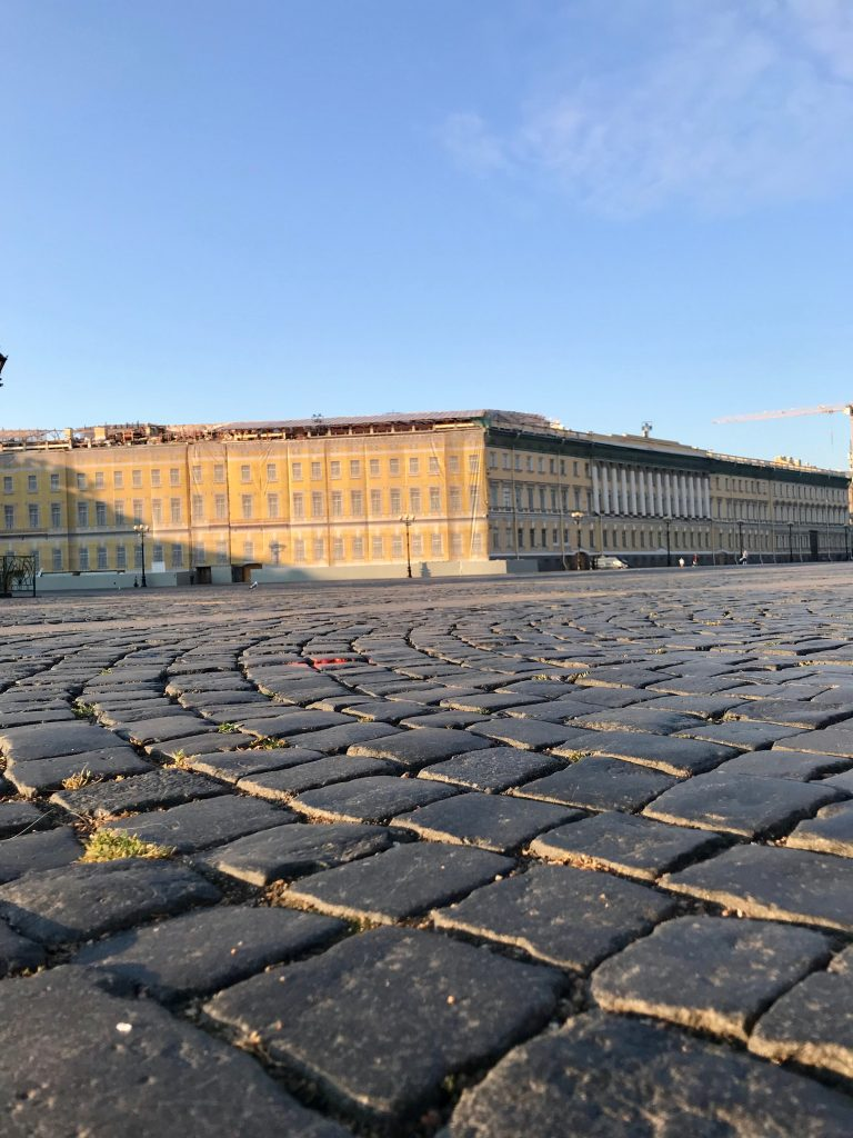 Cobblestones in Palace Square