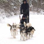 Dog Sledding in Banff Canada – Anthony heading out