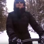 Dog Sledding in Banff Canada – driving our sled