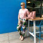 Motto floral pants